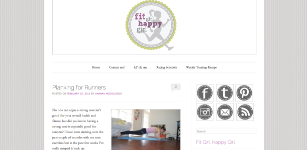 Fit Girl. Happy Girl. - Planking for Runners