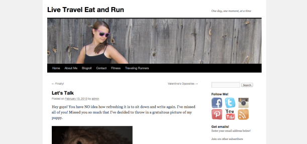 Live Travel Eat and Run - Lets Talk