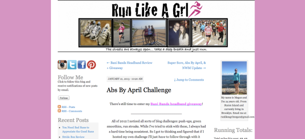 Run Like A Grl - Abs By April