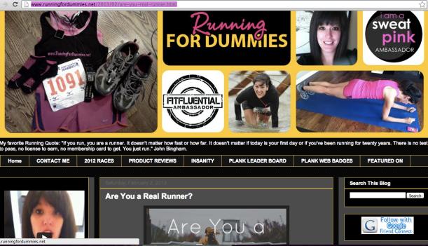 running for dummies