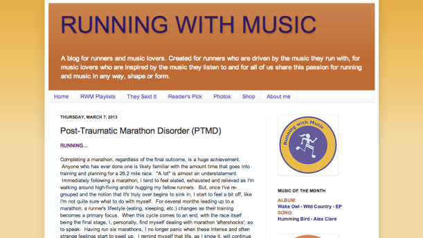 running with music - ptmd