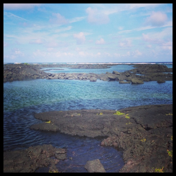 Kapoho Wai'opae. Perfect easy snorkeling spot and yes.. Sunny!